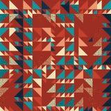 Sömlös bakgrund för triangelmodellabstrakt begrepp med moderiktig texturmemphis för höst geometrisk pastell stock illustrationer