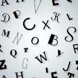 Sömlös bakgrund för typografi vektor illustrationer
