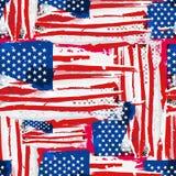 Sömlös bakgrund för USA flagga. Royaltyfria Foton