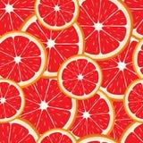 Sömlös bakgrund för vektor av grapefruktskivor Royaltyfria Foton