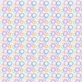Sömlös bakgrund för vektorkugghjul stock illustrationer
