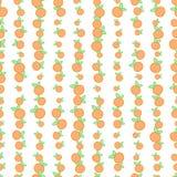 Sömlös bakgrund med apelsiner också vektor för coreldrawillustration Arkivbild