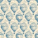 Sömlös bakgrund med ballonger vektor illustrationer