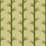 Sömlös bakgrund med bambuskogen Arkivfoton