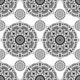 Sömlös bakgrund med blom- henna för mehndi snör åt buta Royaltyfri Bild