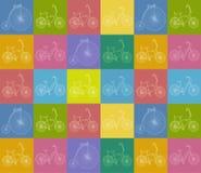 Sömlös bakgrund med cyklar Royaltyfri Bild