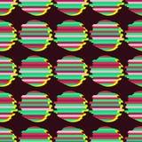Sömlös bakgrund med den abstrakta geometriska modellen Abstrakt digitalt tekniskt feldiagram Royaltyfri Foto