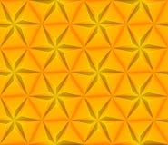 Sömlös bakgrund med den gula triangelstjärnan Royaltyfri Fotografi