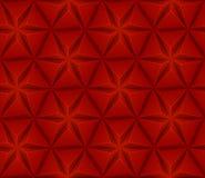 Sömlös bakgrund med den röda triangelstjärnan Arkivbild