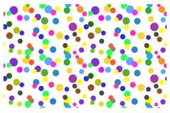 Sömlös bakgrund med färgrika cirklar på en vit bakgrund Arkivbild