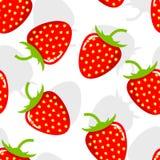 Sömlös bakgrund med jordgubbar royaltyfri illustrationer