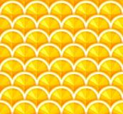 Sömlös bakgrund med orange skivor vektor Arkivfoto