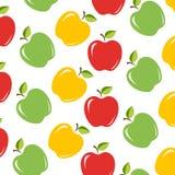 Sömlös bakgrund med saftiga äpplen royaltyfri illustrationer