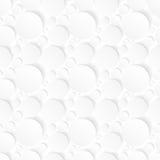 Sömlös bakgrund med vita cirklar Arkivfoto