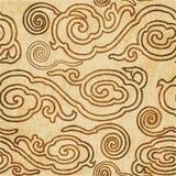 Sömlös bakgrund Orient för Retro brun vattenfärgtexturgrunge royaltyfri illustrationer