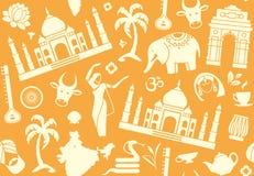 Sömlös bakgrund på ett tema av Indien vektor illustrationer