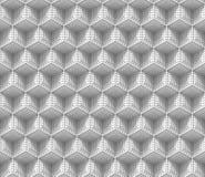 Sömlös bakgrund som 3d göras av förbindelsevitkuber med rektangulära skrattgropar Arkivbild