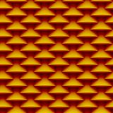 Sömlös bakgrundsmodell som göras av stiliserad våg i varma färger 106 Arkivfoto