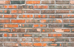 Sömlös bakgrundstextur av den gamla väggen för röd tegelsten Fotografering för Bildbyråer