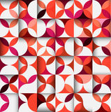 Sömlös baksida för färgrik blom- formmodell eller för geometriskt begrepp Royaltyfria Bilder