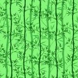 Sömlös bambu pattern2 för vektor stock illustrationer