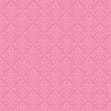 Sömlös barock damast rosa bakgrund Arkivbild