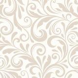 Sömlös beige blom- modell för tappning också vektor för coreldrawillustration Royaltyfri Bild