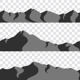 Sömlös bergsamling Royaltyfri Fotografi