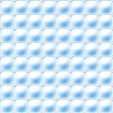 Sömlös blå bakgrund som göras av ett vanligt raster av förbindelsesfärer som inramar en mjuk stoppningmodell Royaltyfria Foton