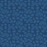 Sömlös blå blom- modell, vektor Ändlös textur kan användas för tapeten, modellpåfyllningar, webbsidabakgrund, yttersida t Arkivfoton