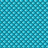 Sömlös blå flodfiskvåg royaltyfri illustrationer