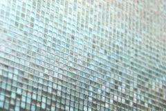 Sömlös blå glass tegelplattatexturbakgrund Royaltyfri Foto