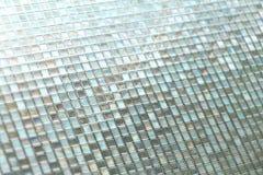 Sömlös blå glass tegelplattatexturbakgrund Arkivfoto