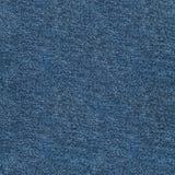 Sömlös blå grov bomullstvilltextur Arkivfoton