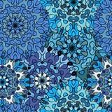 Sömlös blå konstnärlig modell Arkivfoto