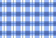 Sömlös blå tartan för vektor, tartanmodell Arkivbilder