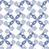 Sömlös blå tygmodelltapet Royaltyfria Bilder