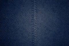 Sömlös blåttlädertextur Royaltyfria Foton