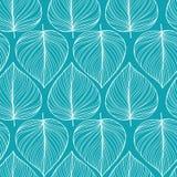 Sömlös bladbakgrund, vektorillustration Arkivfoton