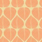 Sömlös bladbakgrund, vektorillustration Arkivbilder
