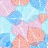 Sömlös bladbakgrund, vektorillustration Fotografering för Bildbyråer