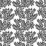 Sömlös bladig prydnad stock illustrationer