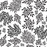 Sömlös bladig prydnad vektor illustrationer