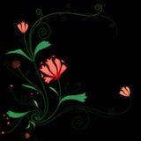 Sömlös blom- bakgrund Arkivbild