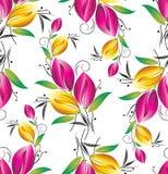 Sömlös blom- bakgrund Royaltyfri Fotografi