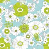 Sömlös blom- bakgrund Royaltyfria Bilder
