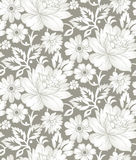 Sömlös blom- bakgrund för textildesign royaltyfri illustrationer