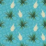 Sömlös blom- bakgrund, palmliljablommor Fotografering för Bildbyråer