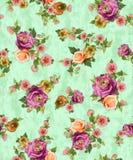 Sömlös blom- blomma med bakgrundstextur stock illustrationer