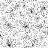 Sömlös blom- modell stock illustrationer